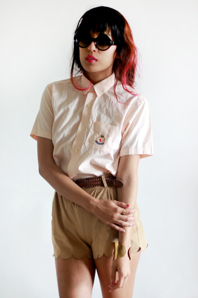 Vintage unicorn preppy oxford button-up by Tarte Vintage at shoptarte.com
