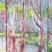 Jane Brennan Koeck: Blazing Bayou Triptych I, II, II
