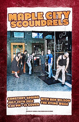 Maple City Scoundrels July 28th 2012 gig poster