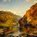 Thomas Moran - Autumn Afternoon, the Wissahickon, 1864 at Institute of Art Chicago IL by mbell1975