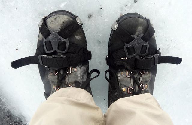crampons for glacier hike