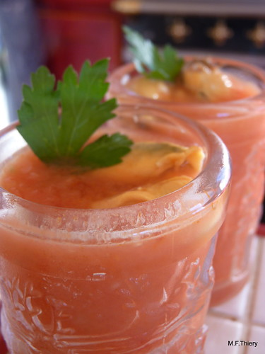 gaspacho de tomates en verrines