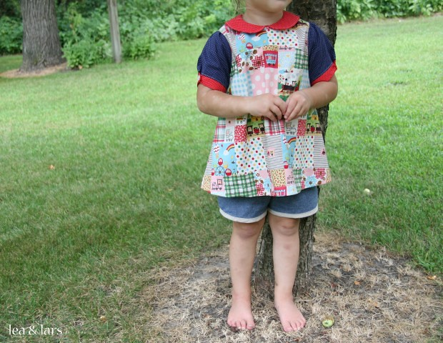 Oliver + S puppet show tunic and shorts