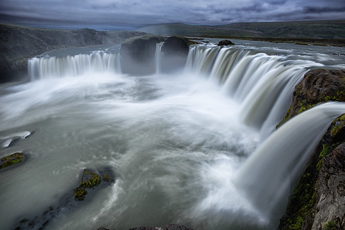 water clouds waterfall iceland nikon d800 goðafoss tonyprower