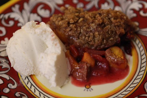 Sugar Plum and Peach Cobbler