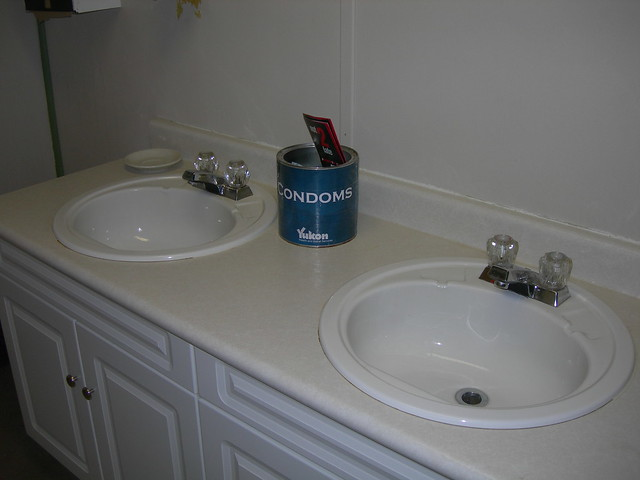 Condoms in shower