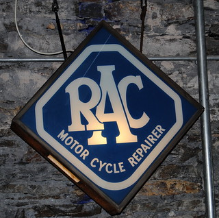 vintage RAC illuminated sign
