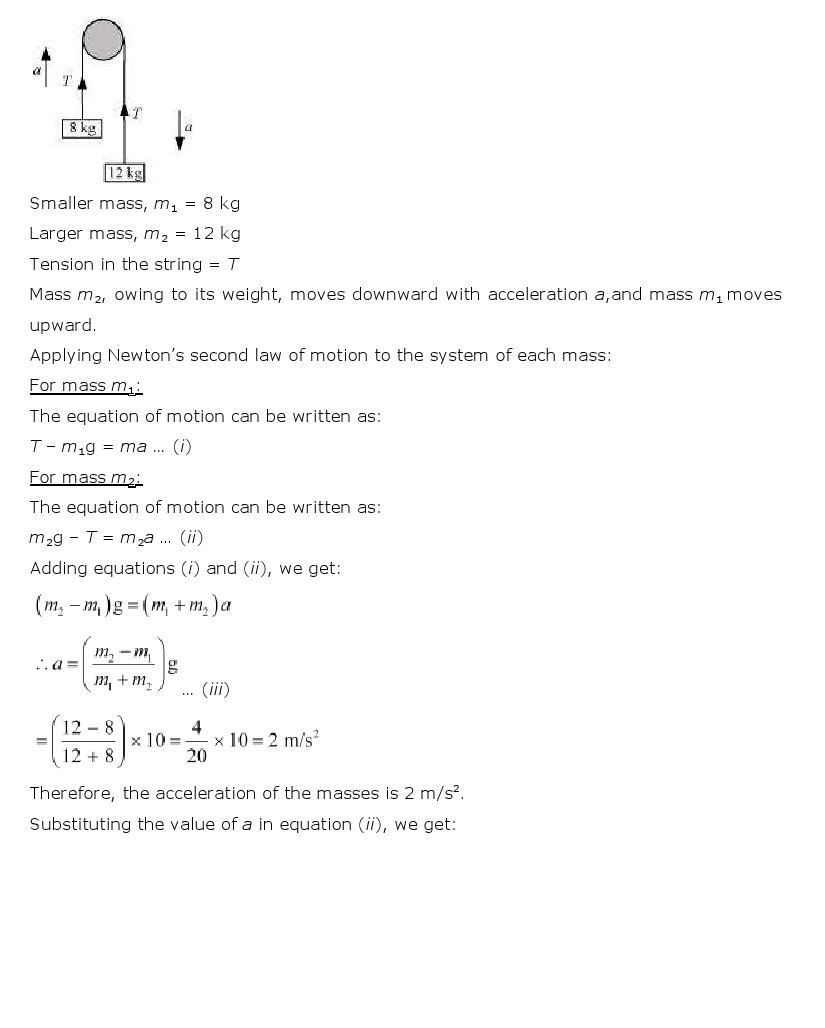 NCERT Solutions for Class 11th Physics Chapter 5 - Laws of motion
