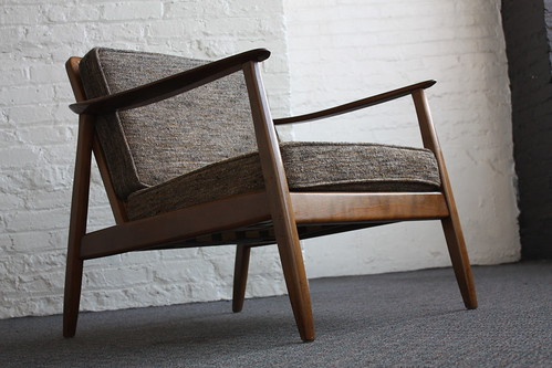 Exceptional Danish Mid Century Modern Dux Caned Back Lounge Chair (Denmark, 1950's)