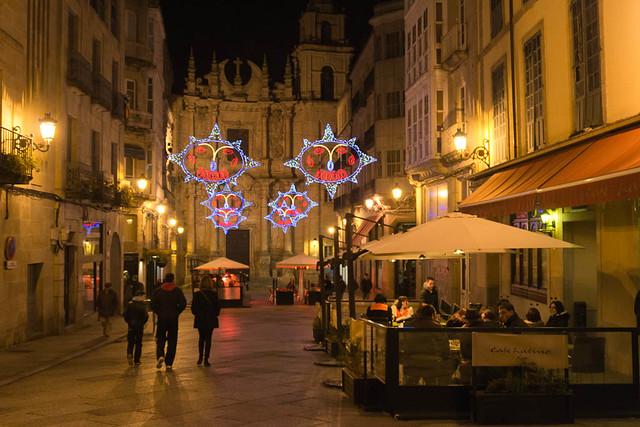 Centro de Ourense de noche