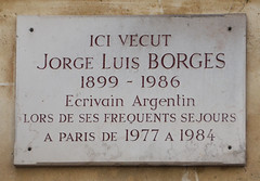 Photo of Jorge Luis Borges marble plaque