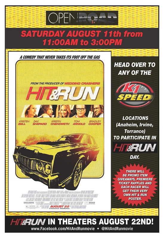 7712992046 cc3927409c c HIT & RUN DAY at K1 SPEED!
