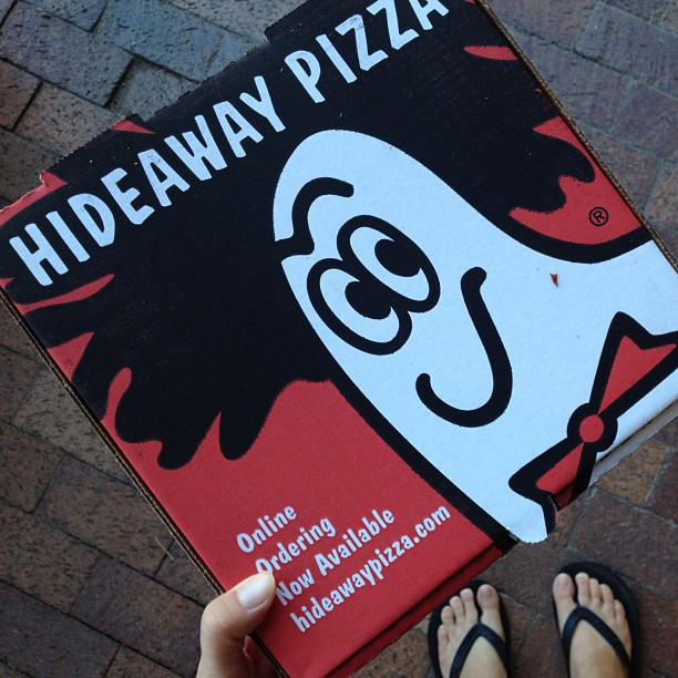 Leftover Hideaway #pizza yum!