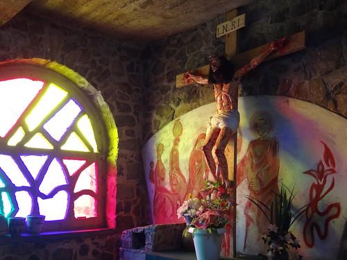 Sculpture of Crucified Christ - Inside Genocide Memorial Church - Karongi (Kibuye) - Western Rwanda