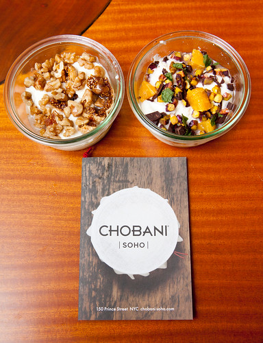 Chobani at home: Fig & Walnut and Pistachio + Chocolate yogurts