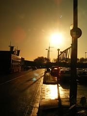 GOLDEN SUNSHINE ON THE STREETS OF THE GULAG BRANSHOLME IN HULL