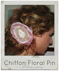 how to make a chiffon floral pin