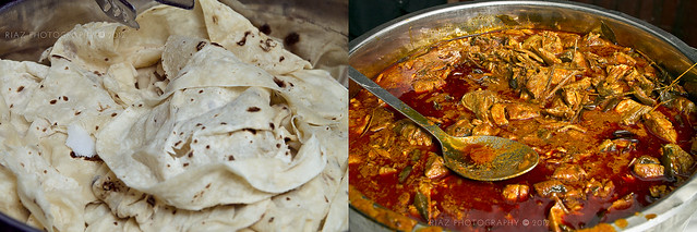 Chapati and Fish curry