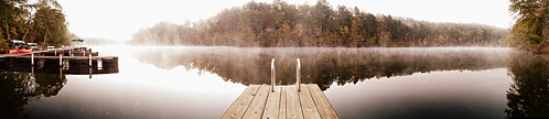 park camping autumn panorama lake hot fall fog landscape pier dock resort landing national springs arkansas rv catherines