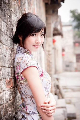 [フリー画像素材] 人物, 女性 - アジア, チャイナドレス ID:201211130800