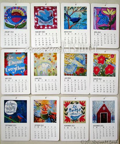 Art Calendar : Feathered friends art calendar regina lord of