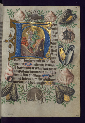 Van Alphen Hours, Initial H with Souls cast into Hellmouth, Walters Manuscript W.782, fol. 113r by Walters Art Museum Illuminated Manuscripts