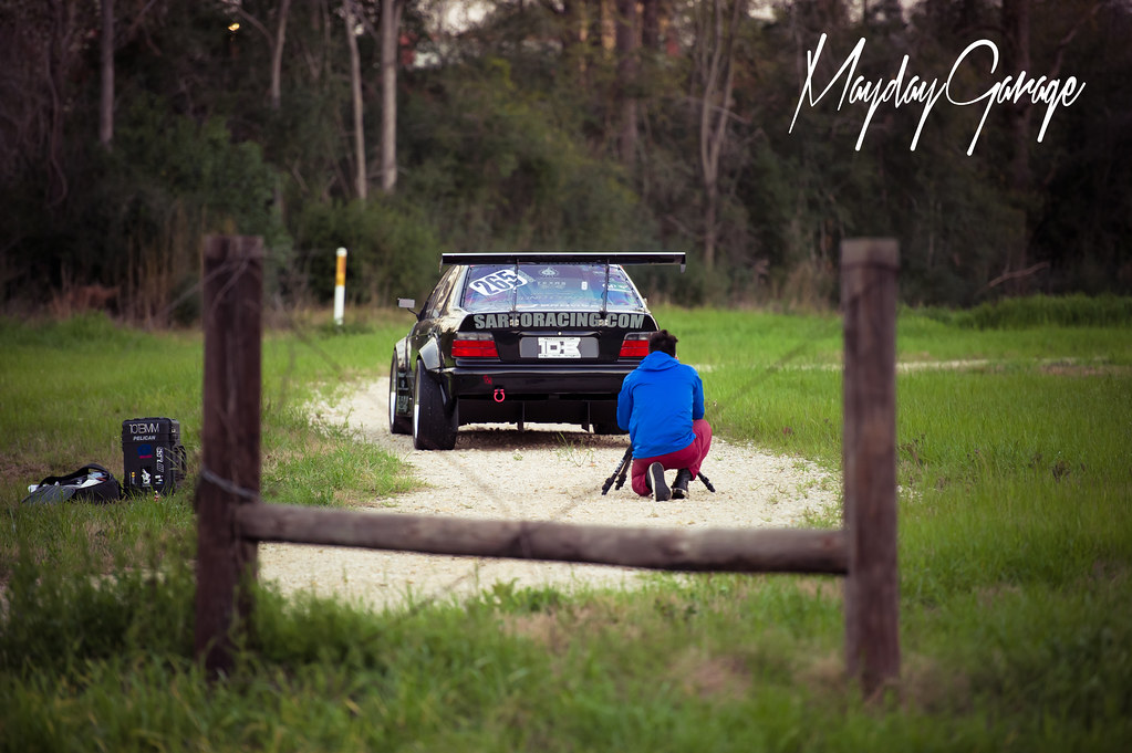 Early morning with JZ and Wil Kitchens' Pikes Peak E36 for Bimmer Magazine
