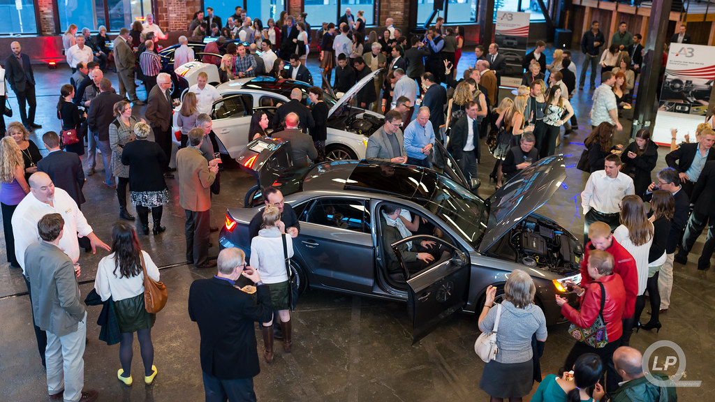 View of the Sunset Audi Event at Leftbank Annex From the Loft
