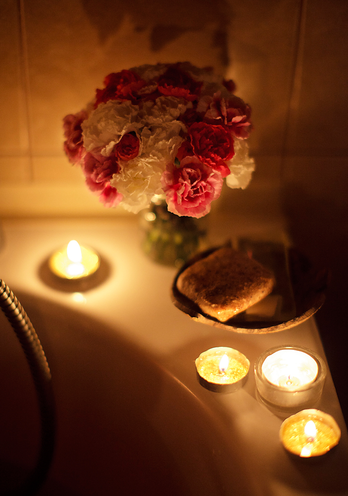 carnations on the bathtub