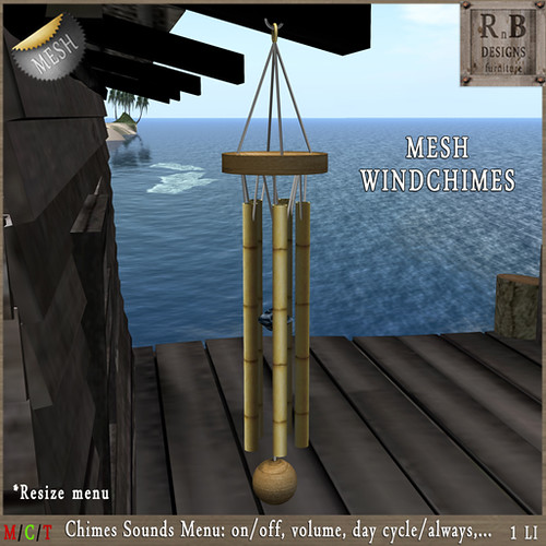 PROMO 60L ! *RnB* Mesh Bamboo Windchimes - Sounds Menu (copy)