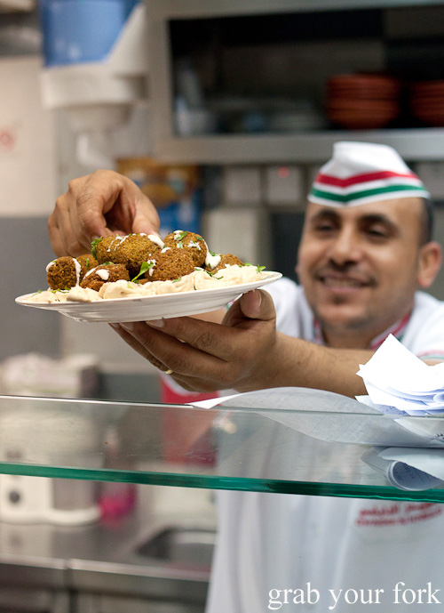 Jordanian falafel mahshi on the Frying Pan Adventures food tour in Dubai