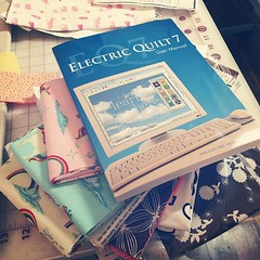 Mail call for the past two days. If I get lots of projects done I\'m going to install EQ7. See @morganannie I told you I\'ve been impossible with the fabric. I admire your destashing so much.