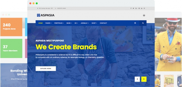 JS Aspasia v1.0 - Responsive Joomla 3.x Template for Small Business and Portfolios Sites