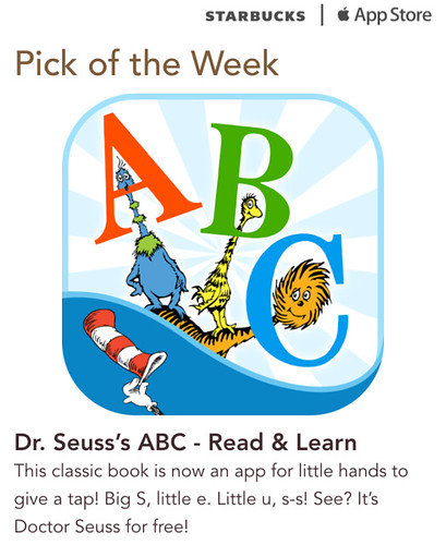 Starbucks Pick of the Week - Dr. Seuss's ABC - Read & Learn