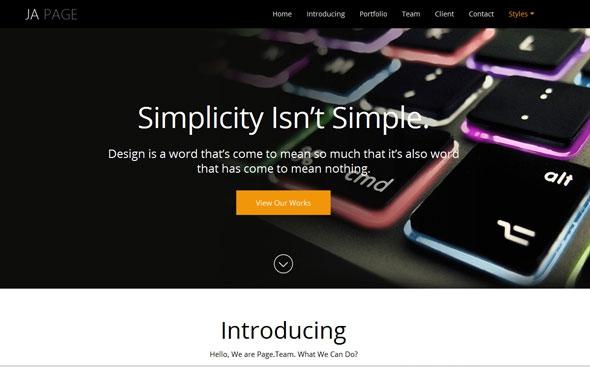 JA OnePage v1.1.2 - Responsive Joomla 2.5 - 3.x Template