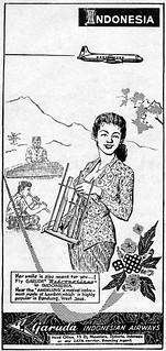 1960 Garuda Indonesia Airways ad