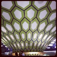 Ceiling in Abu Dhabi international airport.