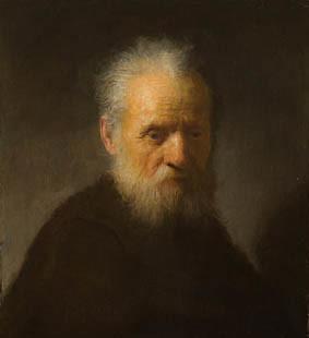 Rembrandt oude man met baard