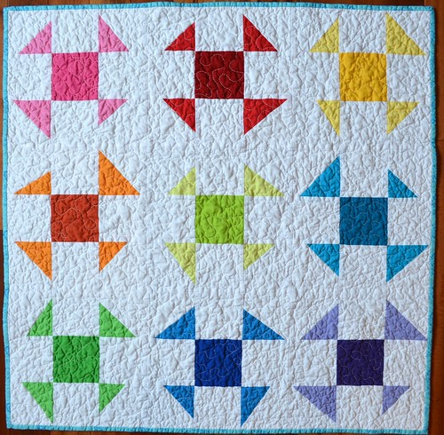 Wonky Baby Quilt - Liberated Shoo Flies - front