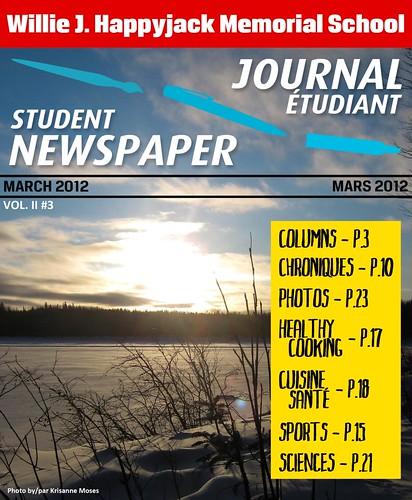 Student Newspaper Cover - Couverture du Journal  Étudiant