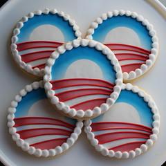 Obama Logo Cookies