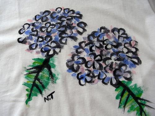 手描きTシャツ アジサイ2