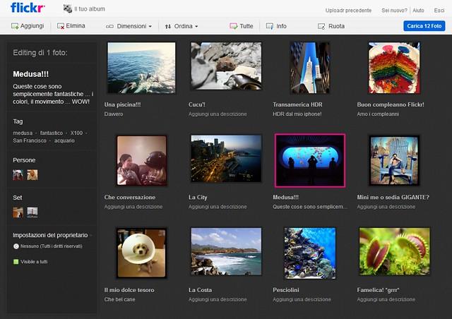 Flickr nuovo uploadr