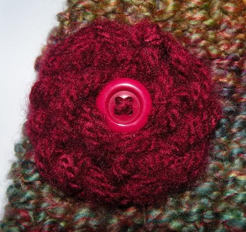 yarn flower clip