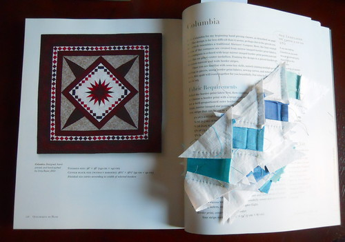 """Columbia"" from Jinny Beyer's _Quiltmaking by Hand_"