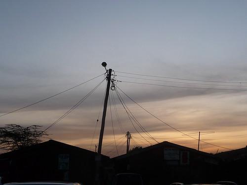 roof sunset sky market kenya nairobi cable electricity hotdryseason