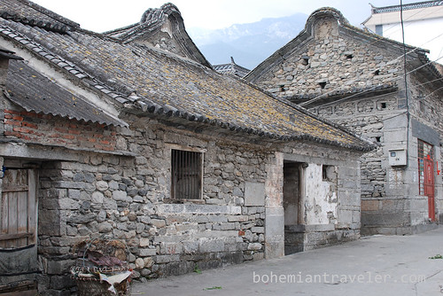 old stone house in Dali Yunnan China