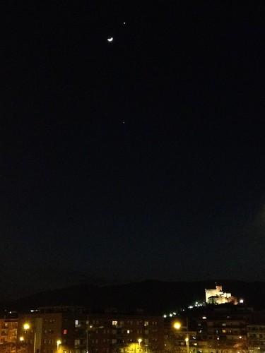 Júpiter, Venus La Luna y Iphone