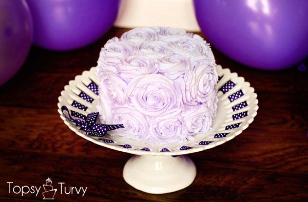 Smash Cake Real Flowers