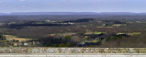 color newjersey spring pano farmland delawarewatergap warrencounty kittatinyridge yardscreekpumpingstation
